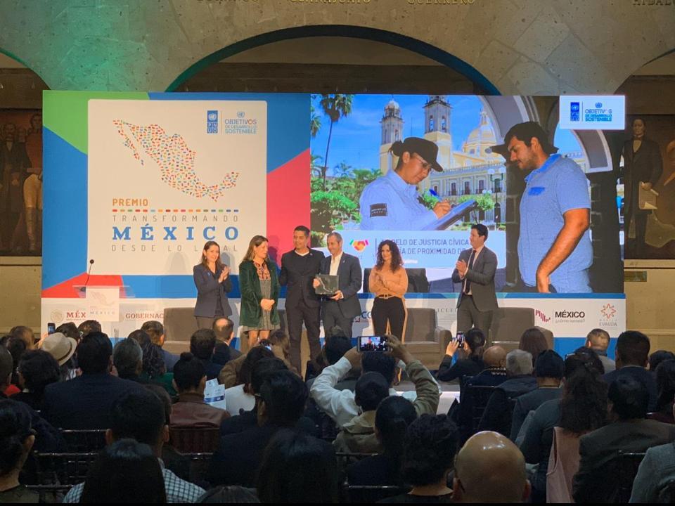 La ONU premia al Ayuntamiento de Colima por el modelo de Justicia Cívica y Policía de Proximidad.