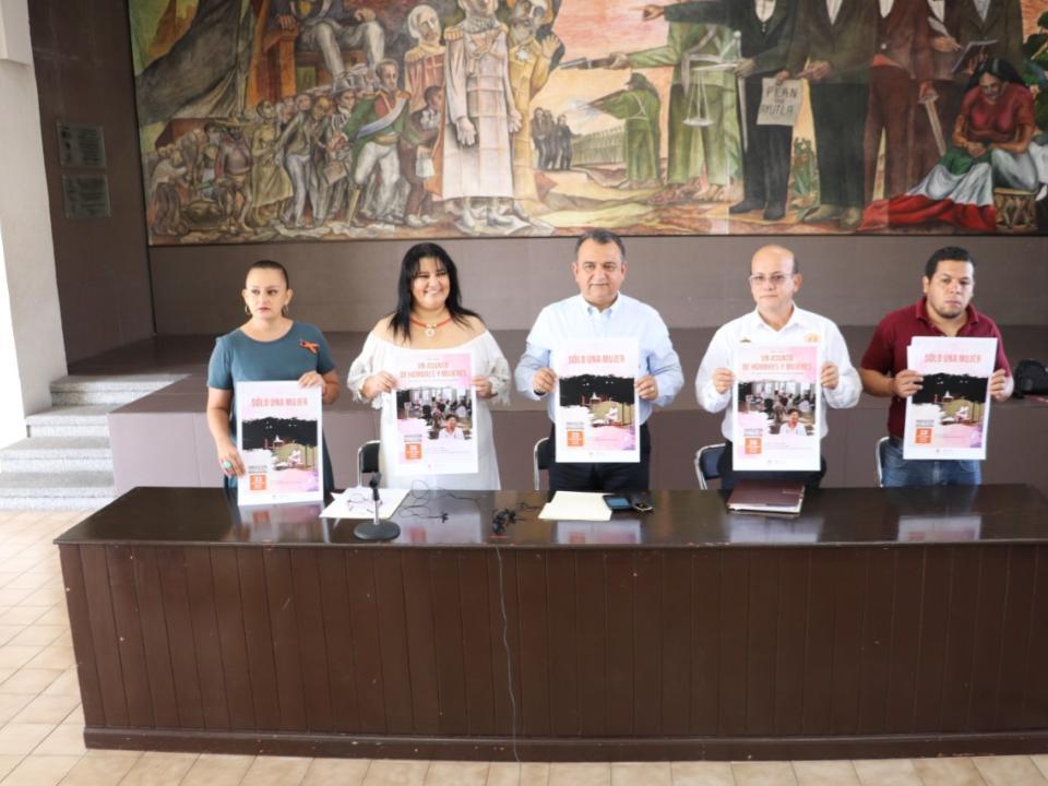 Felipe Cruz, Directora del IVM e Instituciones Anuncian Actividades contra la Violencia a las Mujeres