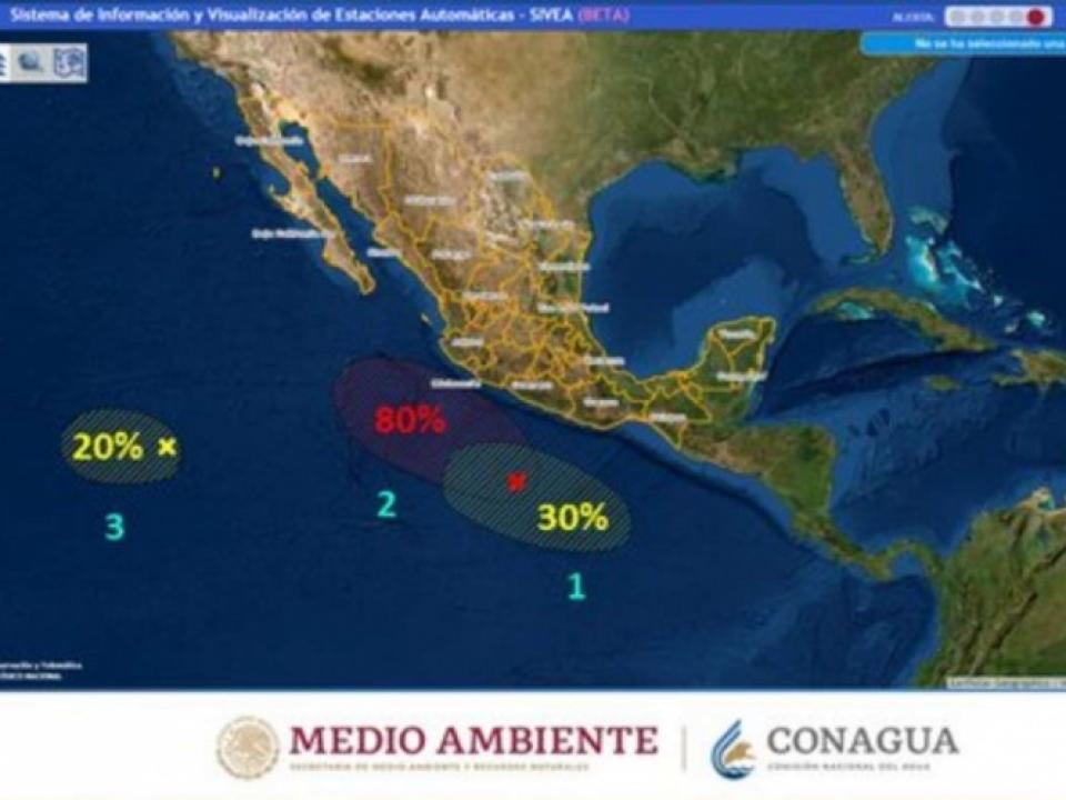Alerta CONAGUA por tormenta tropical en el pacifico; afectara al estado de Colima