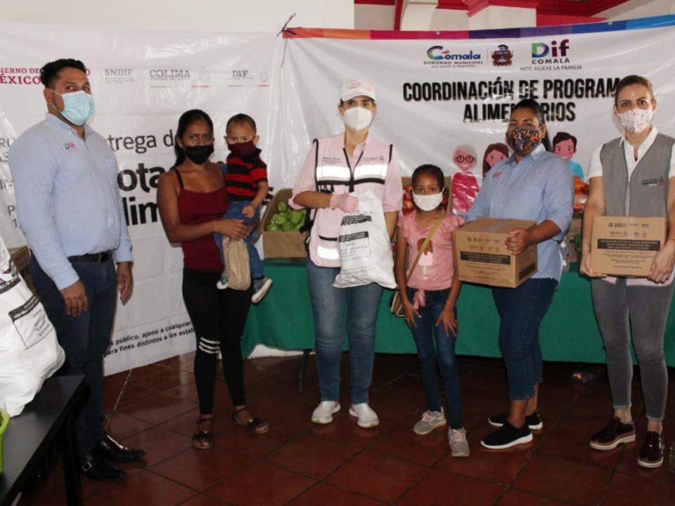 Entregan apoyos de Programas  de Asistencia Social Alimentaria