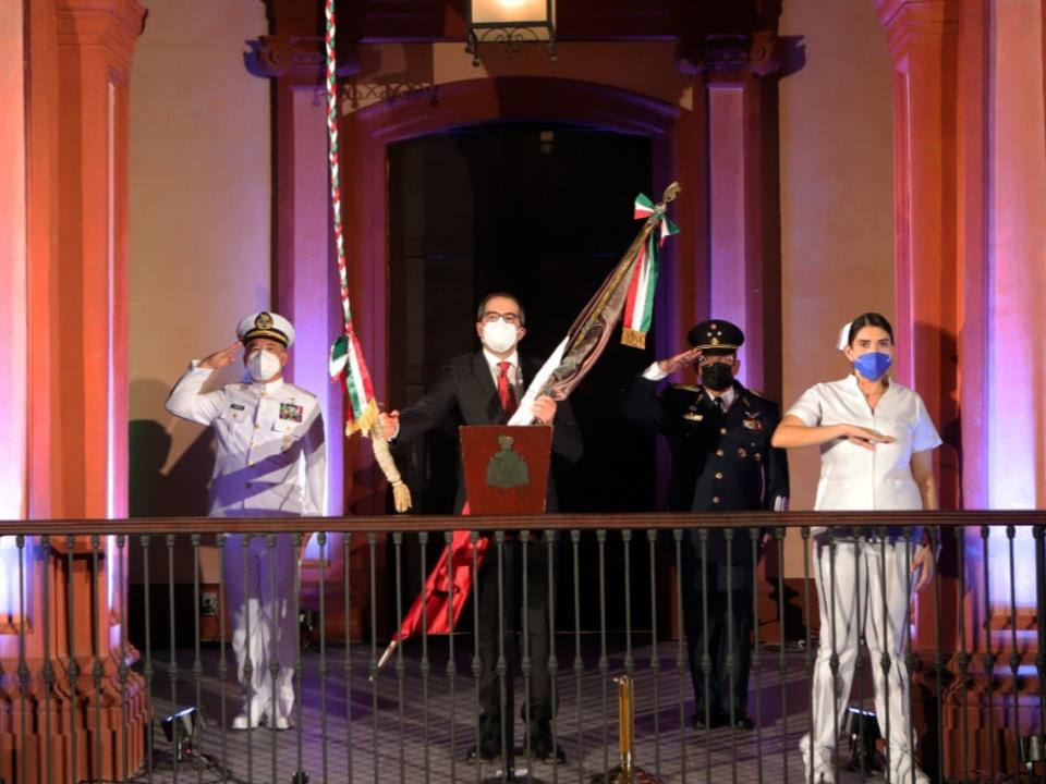 Conmemora Gobernador CCX Aniversario de la Independencia de México
