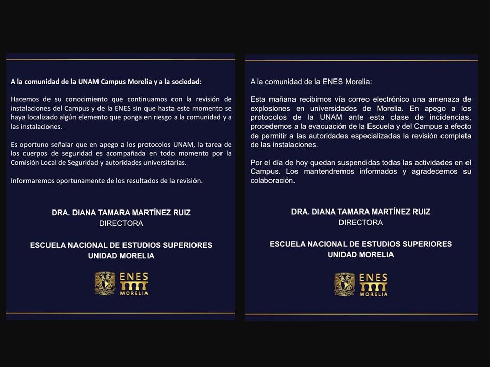 Reciben amenaza de bomba en Universidades de Morelia