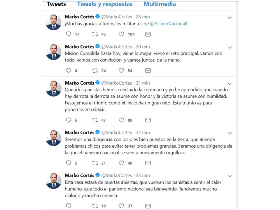 Gana Marko Cortés la presidencia nacional del PAN