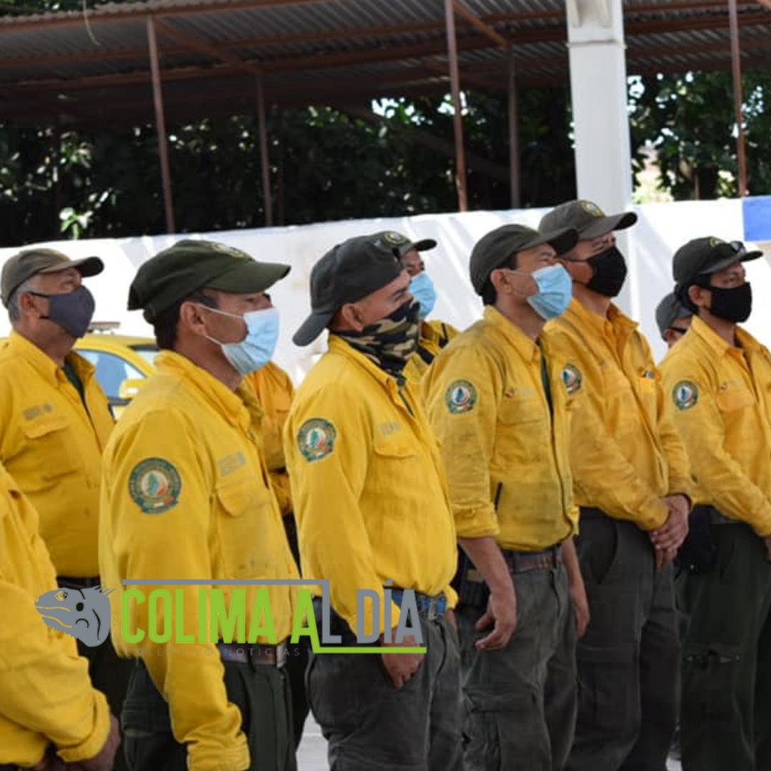 Apoyan brigadistas de Colima combate de incendios forestales en Michoacán