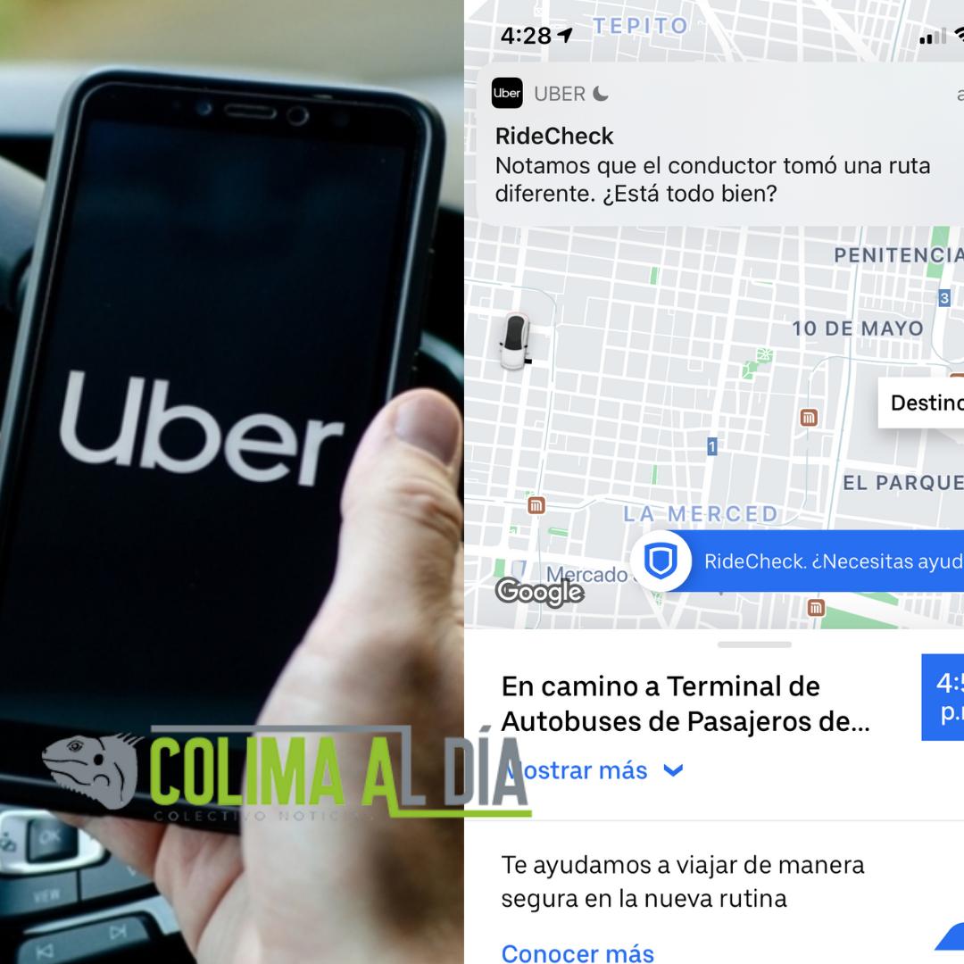 ¿Está todo bien? Así funciona la tecnología de Uber para detectar desviaciones en la ruta en Colima