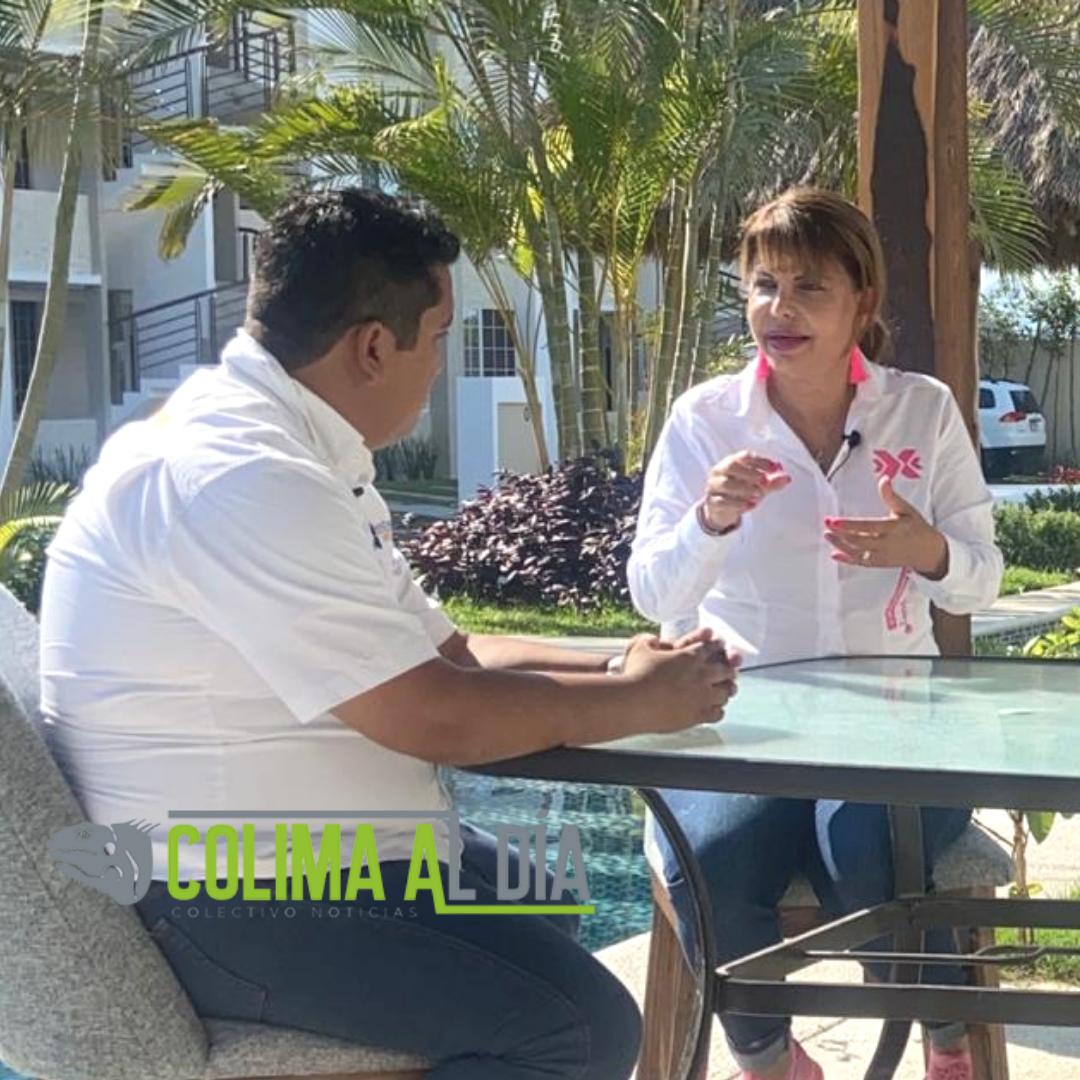 Claudia Yáñez, afirma que Colima, comparado con otros estados   chicos, se quedó rezagado por la corrupción que impera