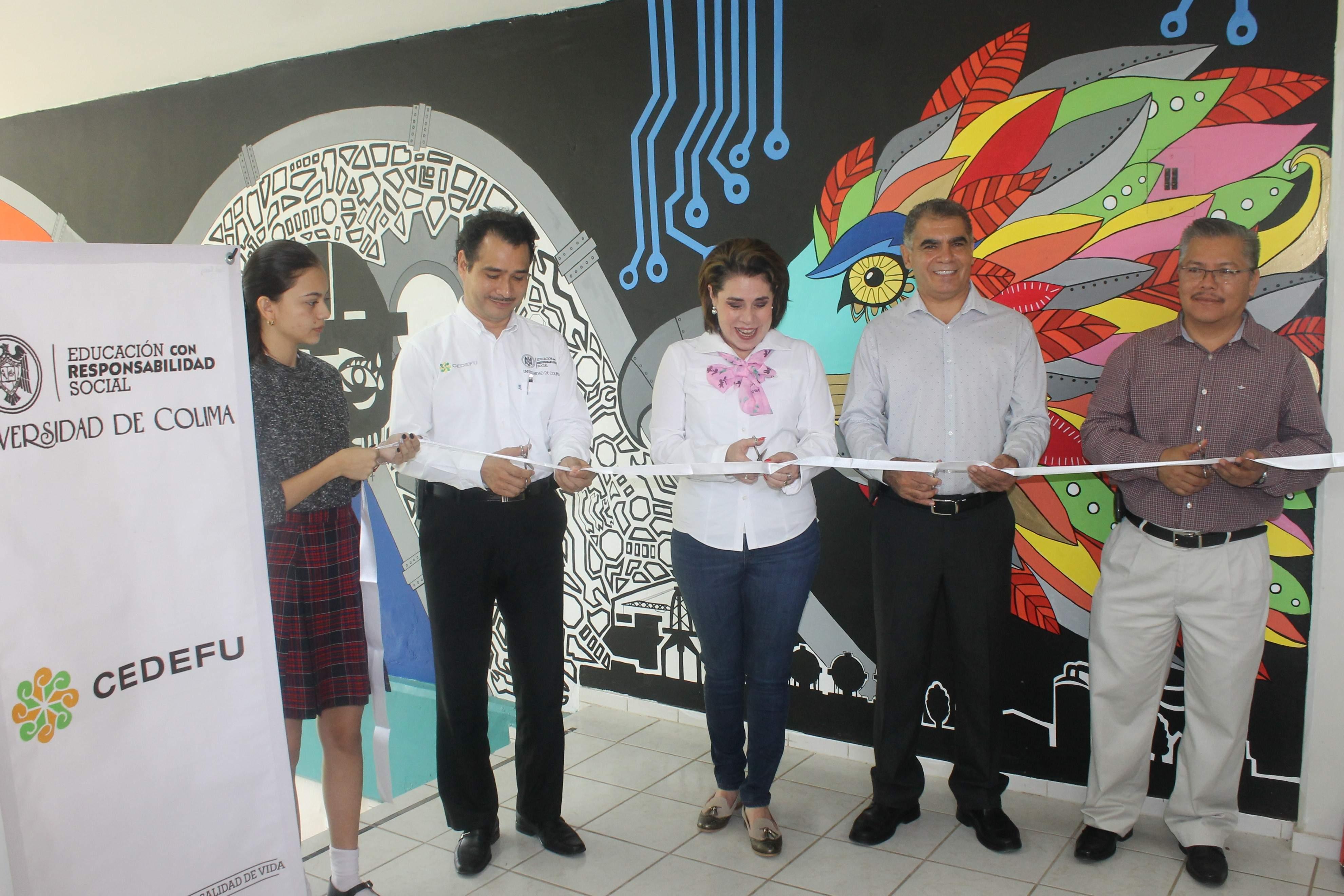 Inaugura CEDEFU murales  en Coquimatlán y Manzanillo