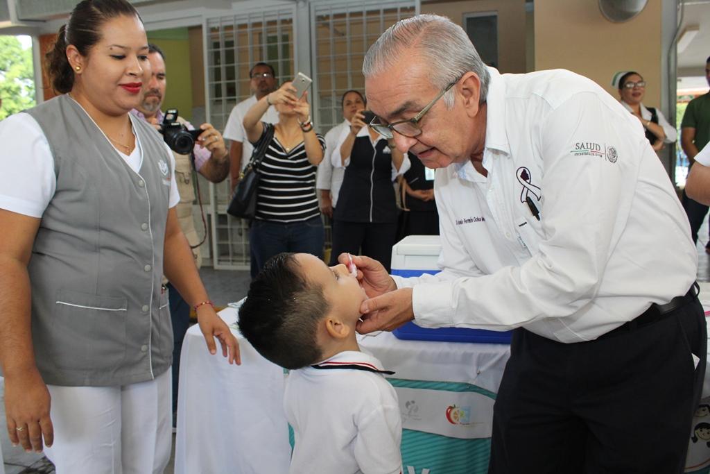 Más de 57 mil vacunas contra la  poliomielitis se aplicarán en Colima