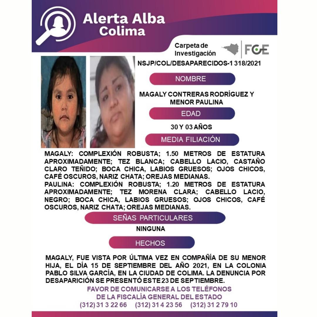 El Protocolo Estatal Alerta Alba, solicita su apoyo y colaboración para difundir los datos de esta persona que no ha sido localizada.