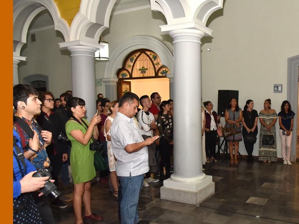 Gobierno del Estado expone pinturas  de la Bienal Alfonso Michel