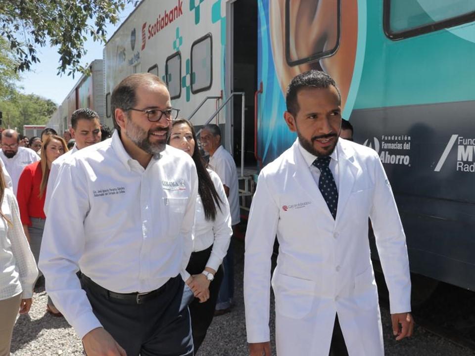 Gobernador inaugura  el Tren de la Salud