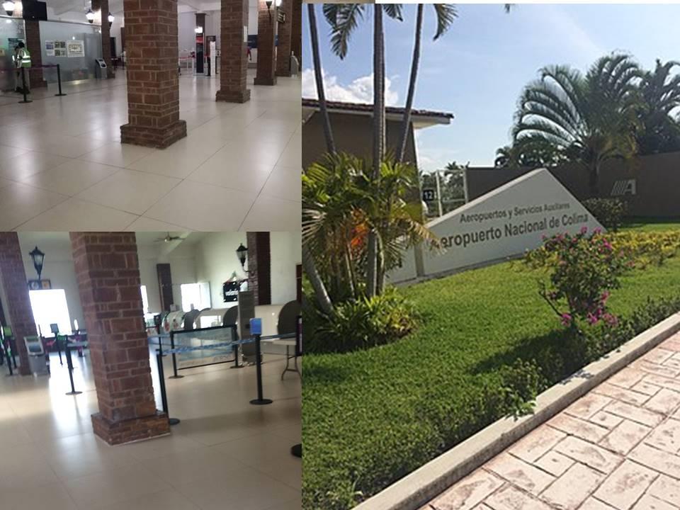 Aeropuerto de Buenavista,  sin sillas en la sala de espera