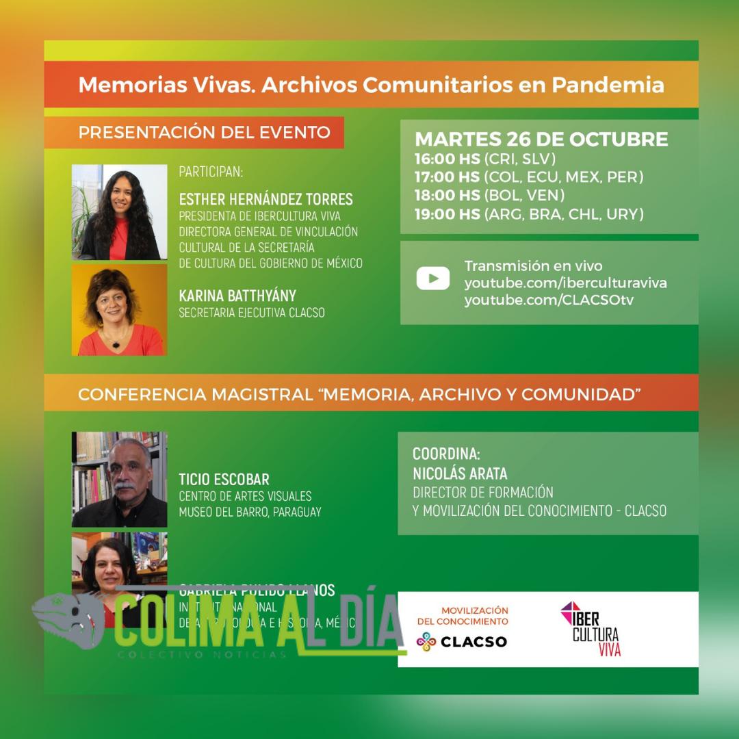 """Da inicio """"Memorias Vivas. Archivos comunitarios en pandemia"""", iniciativa de IberCultura Viva"""