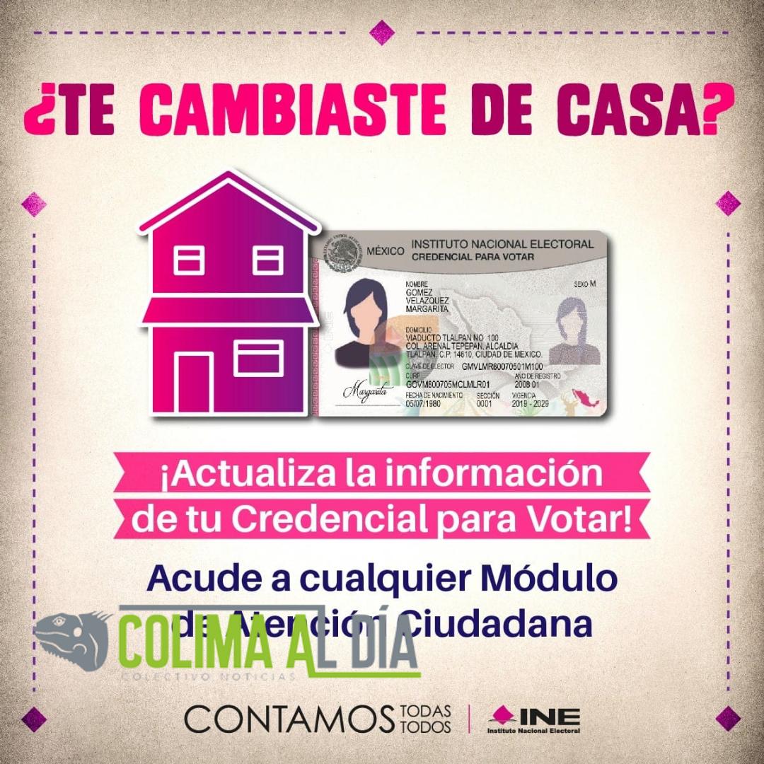 El INE exhorta a las y los ciudadanos a que notifiquen su cambio de domicilio