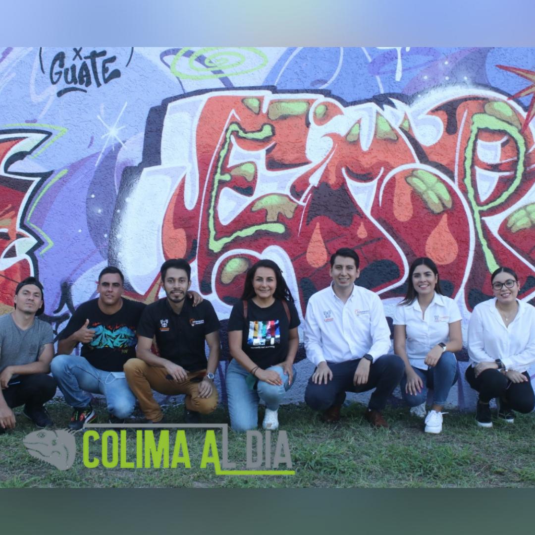 """Ayuntamiento de Colima inaugura """"Mural de las Juventudes con Valor""""."""