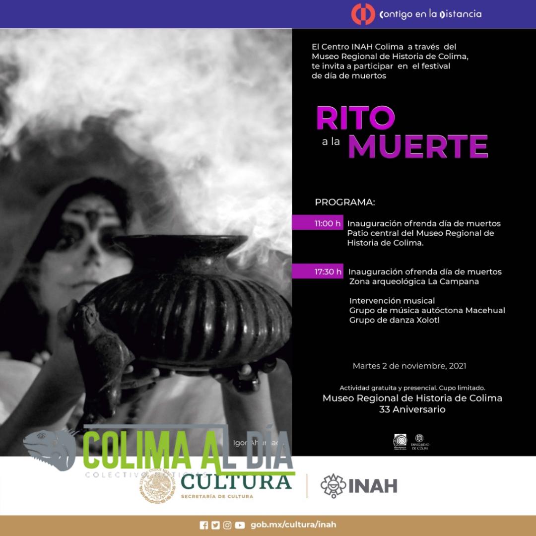 Museo Regional de Historia de Colima realizará Rito a la muerte, festival de día de muertos