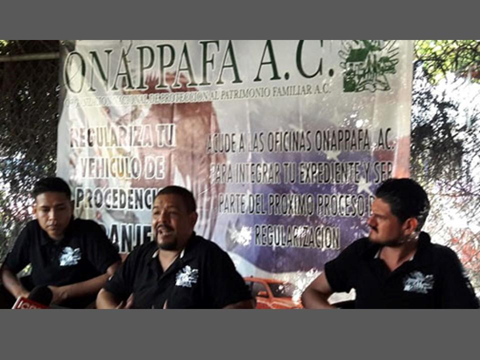 Podrán ser regularizados vehículos importados hasta el año 2015: ONAPPAFA