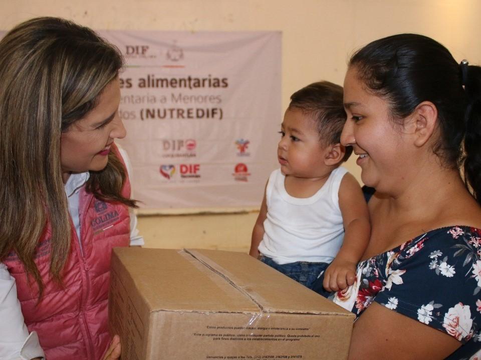 Incrementa Gobierno del Estado número  de infantes beneficiados con Nutre DIF