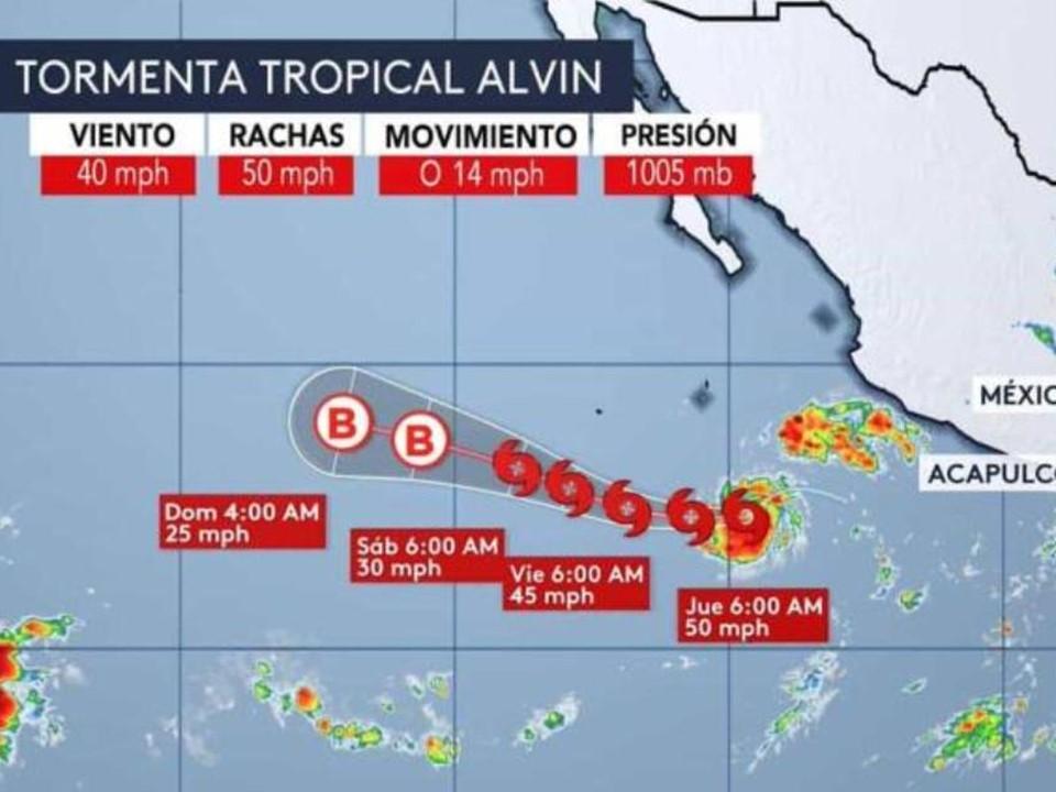"""Se forma la tormenta tropical """"ALVIN"""" en el Pacífico"""