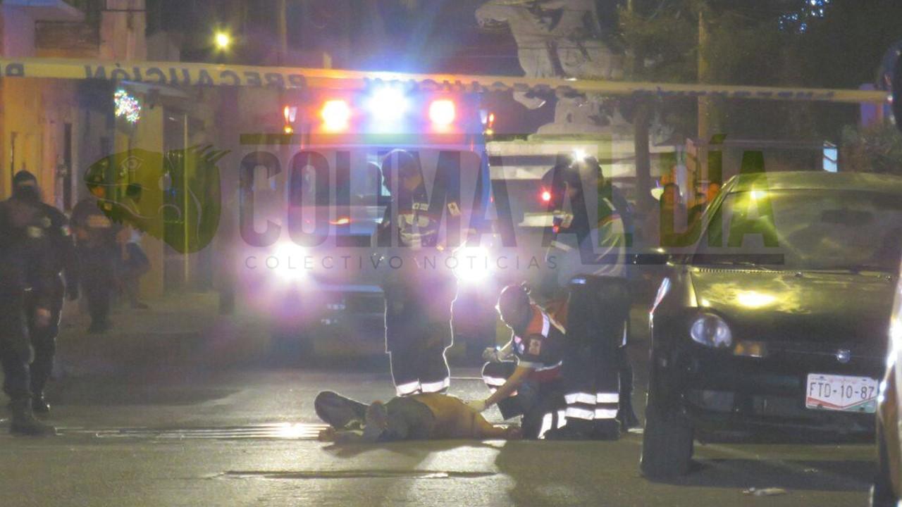 En hechos diferentes, dos hombres fueron baleados en Manzanillo, uno de ellos fallece